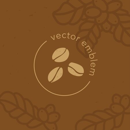 Vector hand drawn coffee beans icon for cafe menu 向量圖像