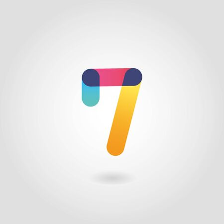 Vector colorful number seven  design template 向量圖像