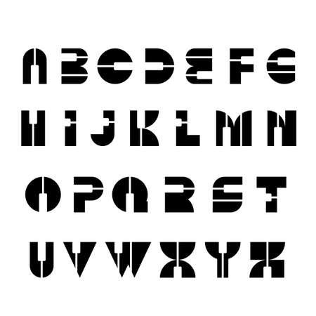 Vector piano keys alphabet set