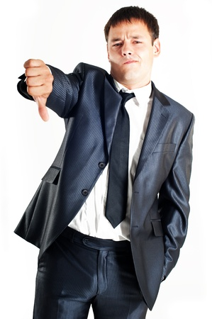 alter ego: Man in a suit giving a thumbs down