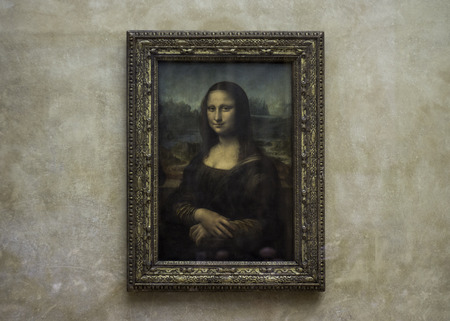 PARIS, FRANCE: Mona Lisa at the Louvre Museum without tourists Editorial
