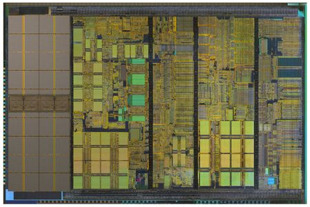 processors: The following internal structure of a modern processor Stock Photo