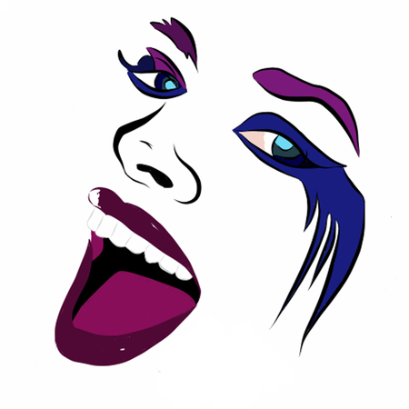 royalty free illustrations: Crazy Girl Stock Photo