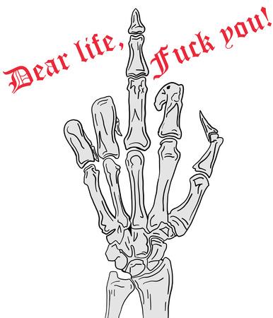 middle: Middle Finger, Fck Life