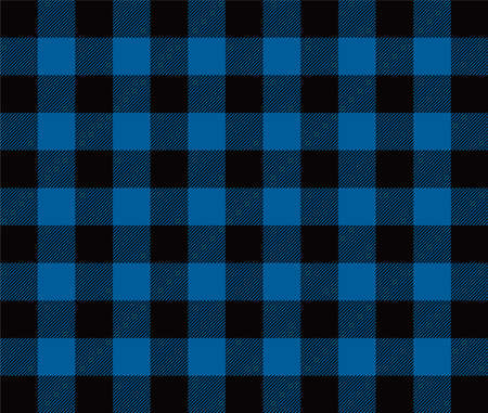 seamless vector blue gingham check pattern Vektorgrafik