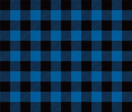 seamless vector blue gingham check pattern Векторная Иллюстрация
