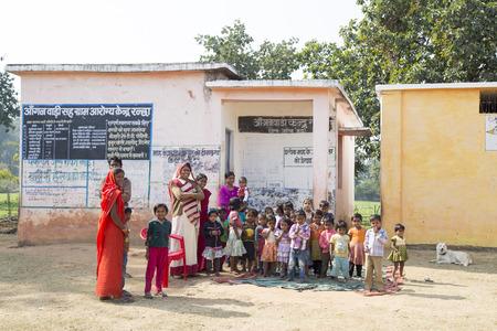 indian village: Small Indian village school in Bandhavgah, India Editorial