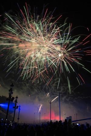 merce: Fireworks at La Merce Festival, Barcelona, Spain