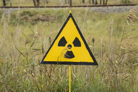 Radioactive Warning Sign at Red Forrest Chenobyl Exclusion Zone