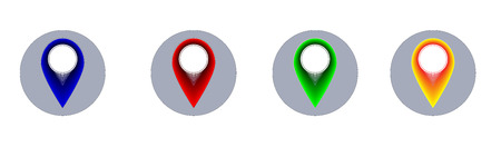 withe background: Four map pointer icons for withe background