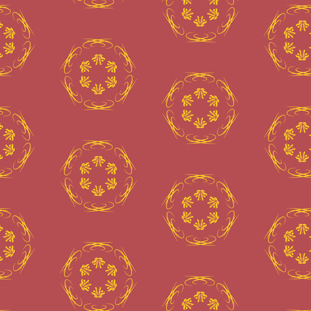 burgundy: Old vector seamless pattern with burgundy color and stylized flowers. Abstract background. Vintage pattern. Retro pattern