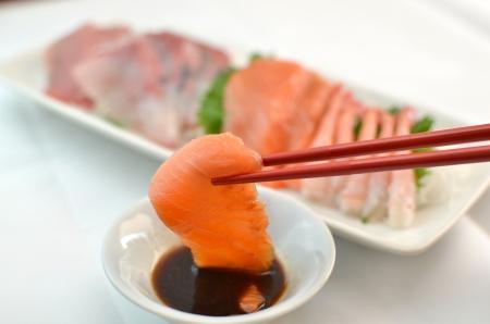 Frais Sashimi Banque d'images