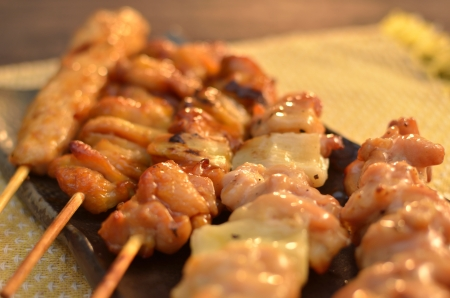 charbroiled: Char-broiled chicken  Yakitori