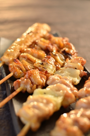 Char-broiled chicken  Yakitori