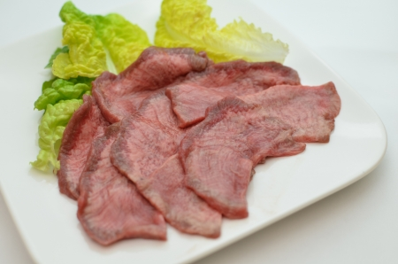 beef tongue YAKINIKU Stock Photo - 15365216