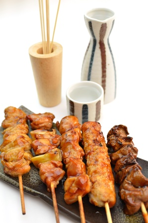 charbroiled: Char-broiled chicken called yakitori Stock Photo