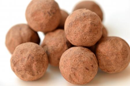 truffe�, chocolat Banque d'images