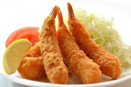 fried shrimp: fried shrimp Stock Photo