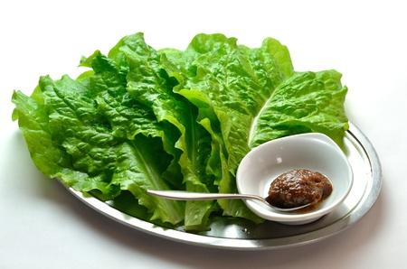 Yakiniku lettuce called Sanche Stock Photo