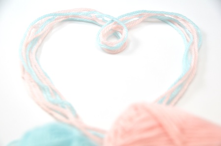 Heart made of woolen yarn Stock Photo - 18240345