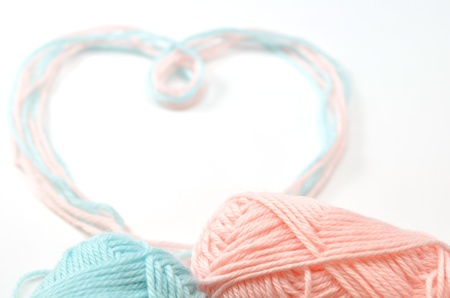 Heart made of woolen yarn Stock Photo - 18240354