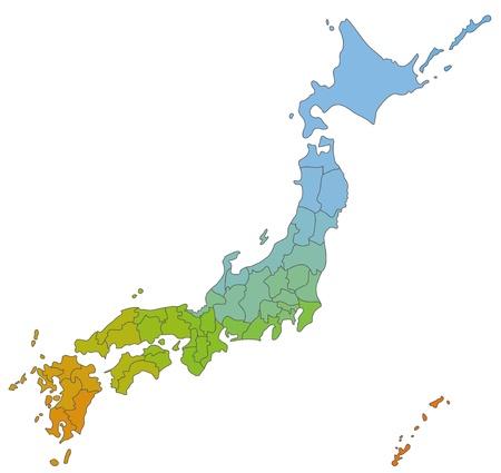 La carte japonaise
