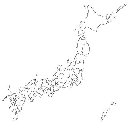 La carte japonaise Banque d'images - 22159875