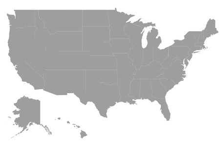 Carte de l'Am�rique Illustration