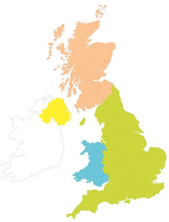 Une carte de la Grande-Bretagne