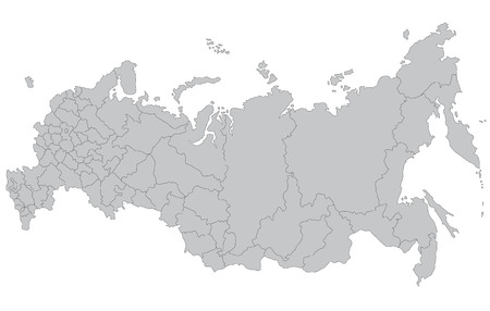 A map of Russia Vector