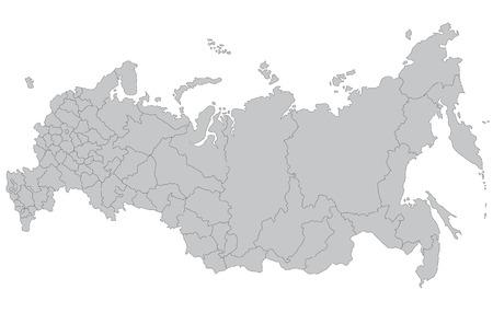 Une carte de la Russie