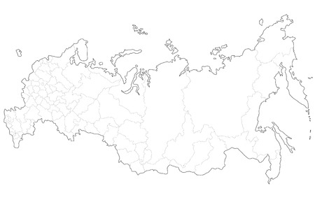frigid: A map of Russia Illustration