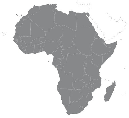 south: A map of Africa