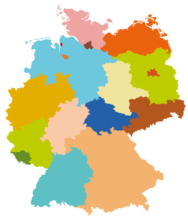 Map of Germany Illustration