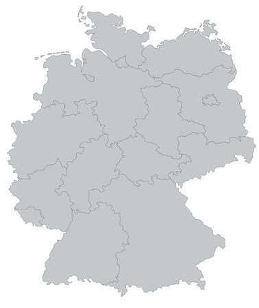 federal republic of germany: Map of Germany Illustration
