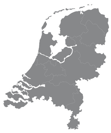 Reclaimed: Map of Holland Illustration