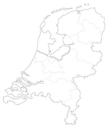 Map of Holland Illustration