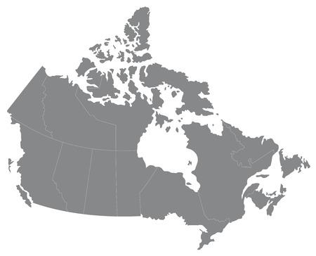 Carte du Canada Illustration