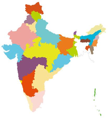 인도의지도 일러스트