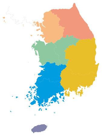 Une carte de la Cor�e du Sud Illustration