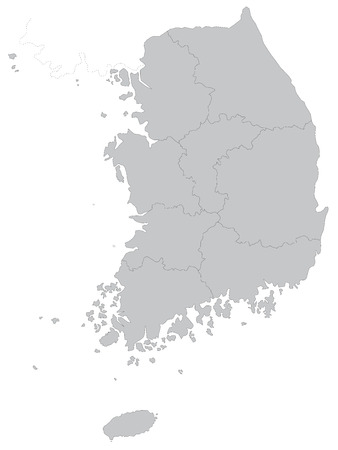 A map of South Korea