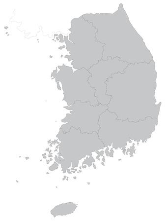 Eine Karte von Südkorea