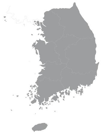 южный: Карта Южной Кореи