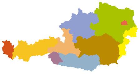 Simple map of Austria