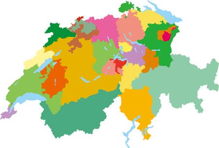 Carte simple de la Suisse Banque d'images - 33725846