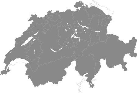 Simple map of Switzerland Illustration