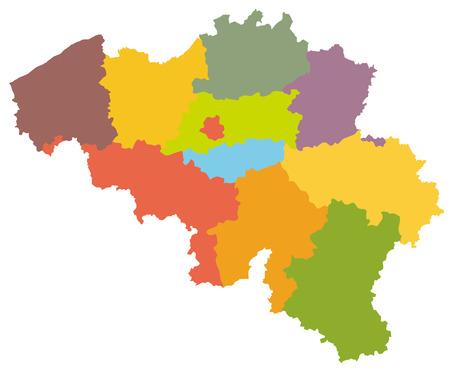 Simple map of Belgium