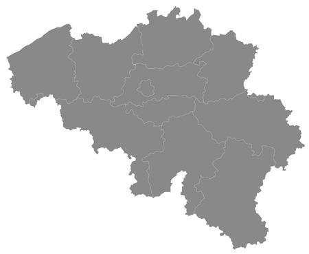 Carte simple de la Belgique Illustration