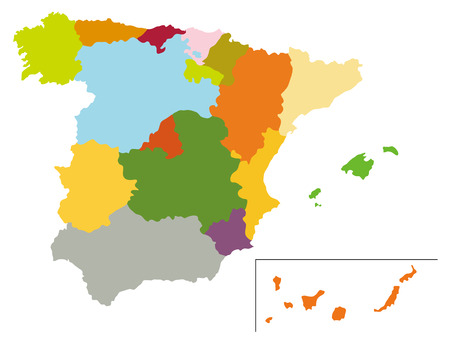 peninsula: Simple map of Spain