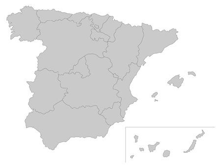 Simple map of Spain